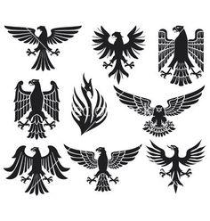 heraldic-eagle-set-vector-1023766.jpg 380×400 pixels