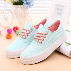 Platform shoes Canvas shoes woman fashion 2016 white Casual shoes Black plus size 4.5-9
