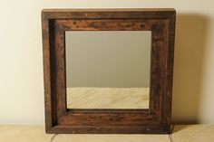 Square Distressed Mirror by englertandenglert on Etsy https://www.etsy.com/listing/106127332/square-distressed-mirror