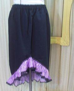 Gothic Lolita skirt Steampunk navy lavender Rockabilly Glam sequin ruffle M 4873 #Geechlark #StraightPencil