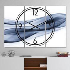 Brayden Studio® Oversized 3 Piece Glittering Wall Clock | Wayfair Modern Wall, Modern Decor, Modern Contemporary, Rectangle Wall Clock, 3 Panel Wall Clock, Glittering Lights, Farmhouse Wall Clocks, Wall Patterns, Home Decor Trends