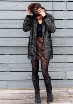Jolies Bobines looking every bit the French boho #makebabe in her Oh my Gérard ! coat