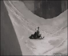 This surprisingly svelte snowmobile. | 21 Incredibly Close Calls