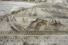 Roman horse racing mosaic found in Cyprus.