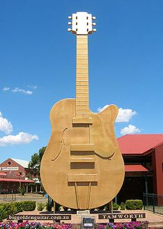 The Big Golden Guitar, Tamworth, NSW.