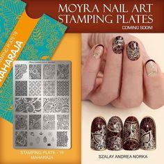 Moyra stamping plate Maharaja Coming soon! Nail Art Stamping Plates, Nail Plate, Nail Stamping, Cool Nail Designs, Girly Things, Class Ring, Nail Polish, Nails, Instagram Posts