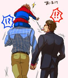 "Superfamily | ""Dad can I have some?"" part 2  I don't ship Stony but if it's in Superfamily I'm alright with it."