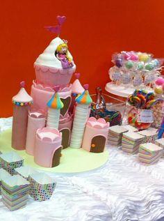 Rainbow Princess Cake via Craftsy