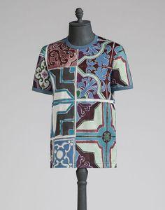 Tシャツ マヨリカ プリント - ショートスリーブT シャツ - Dolce&Gabbana - 2016夏コレクション
