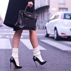 Cute socks in heels