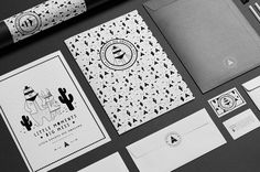 Little bandits on line store with clothing for children. Black and white illustrated branding.