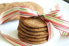 Ginger Molasses Cookies. Click through for 12 Santa-approved Christmas cookie recipes.