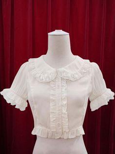 White Lolita Blouse Ruffles Cotton Blouse for Women Sari Design, Frock Design, Stylish Blouse Design, Stylish Dress Designs, Stylish Dresses, White Blouse Designs, Blouse Neck Designs, Estilo Lolita, Traditional Dresses Designs