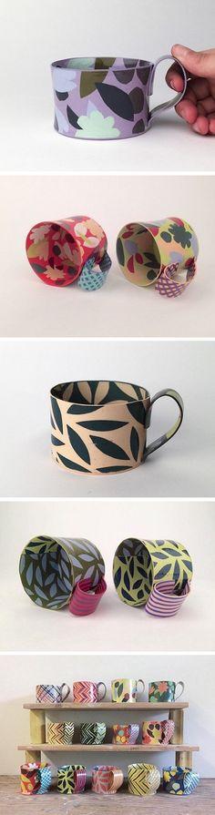 Ceramic mugs by Lydia Johnson