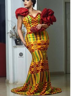 40 Gorgeous Wedding Dress Styles For Your African Traditional Wedding - The Glossychic African Prom Dresses, Latest African Fashion Dresses, African Print Fashion, African Dress, African Prints, African Clothes, Ankara Fashion, African Lace, African Men