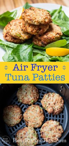 Crispy tuna patties recipe in air fryer. These healthy air fried tuna patty or tuna patties recipe is low carb, paleo and easy healthy air fryer tuna cakes Air Fryer Recipes Meat, Air Frier Recipes, Air Fryer Dinner Recipes, Tuna Patty Recipe Low Carb, Tuna Patties, Patties Recipe, Salmon Patties, Low Carb Recipes, Healthy Recipes