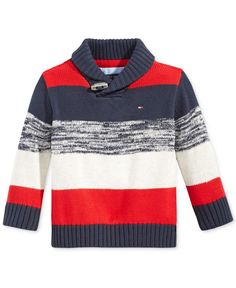 Boys Sweaters, Casual Sweaters, Men Sweater, Kids Knitting Patterns, Knitting For Kids, Little Boy Outfits, Toddler Boy Outfits, Tommy Hilfiger Baby, Pull