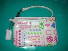 Coach Wristlet Neon Summer Colours Urban Sassy | eBay