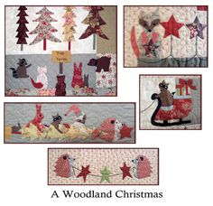 A Woodland Christmas Block of the Month detail images