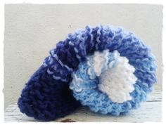 Blue Ombre Knit Blanket Layering Blanket Baby by ZucchiniIsland, $28.00