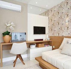 Home Office Bedroom, Condo Bedroom, Guest Room Office, Small Room Bedroom, Home Office Design, Home Office Decor, Bedroom Decor, Home Decor, Office Designs