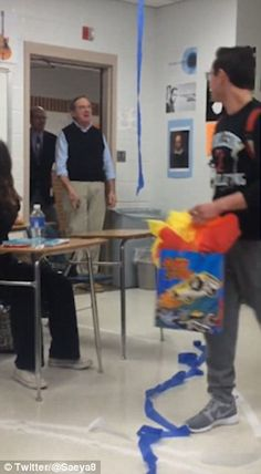 Students Throw Teacher A Birthday Party And He Breaks Down In Tears