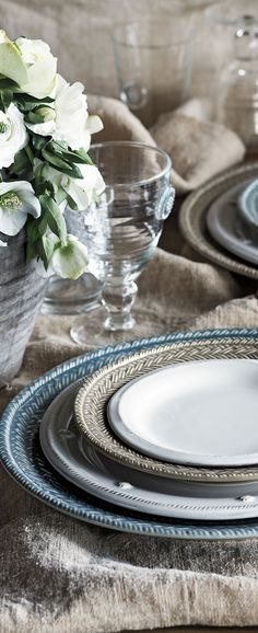 """Beautiful tablescape with Juliska """"Le Panier and Berry and Thread"""" dishes. Available at marytuttles.com"""