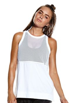 adidas By Stella McCartney Mesh Tank   - White