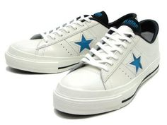 CONVERSE ONE STAR J OX WHITE/TURQUOISE #sneaker