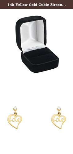 14k Yellow Gold Cubic Zirconia Love Heart Stud Earrings Screw-Back. 14k Yellow Gold Cubic Zirconia Love Heart Stud Earrings Screw-Back. Weight Range: 0.7 - 1 Grams. Guaranteed 14K Solid Gold; Authenticated with a 14K Stamp. Product Enclosed in Black Velvet Gift Box. Ships Same Day if Order Received by 4:00 PM Central USA; Free First Class Shipping Includes Tracking. 30-Day, Hassle-Free, Full Money Back Guarantee; Contact Us to Process a Return and Receive a Prepaid Label with Tracking. .