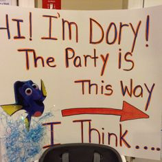 Diy poster finding dory theme for birthday party Birthday Party Games, Birthday Ideas, Happy Birthday, Party Themes, Party Ideas, Summer Games, Amelia, First Birthdays, Kids