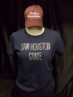 Sam Houston State University Bling Shirt by EmbroiderybySaRis, $30.00