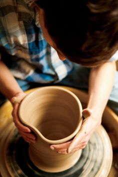 Pottery making at Chestnut Avenue Center for the Arts. Click through for more fun in Marshfield, WI. Ojai Camping, Chestnut Avenue, Ceramics Ideas, Pottery Wheel, Pottery Making, Beautiful Textures, Theatres, Live In The Now, Museums