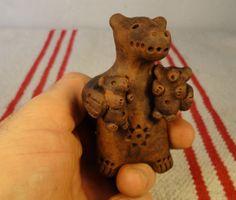 медведь с медвежатами , свистулька , ocarina $20