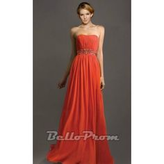 Cheap Strapless A-line Evening Dress A4497  Price: $139.00  Buy now enjoy -10% Discount at BelloProm.com.