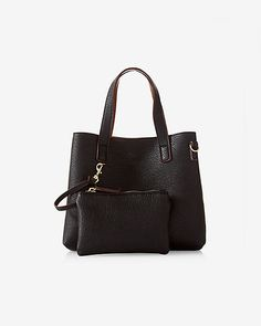 street level mini reversible tote with wristlet