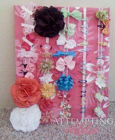 Hair clips and bows organization. Easy DIY