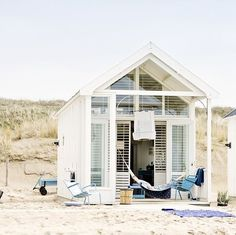 Convert your beachside cottage into a she shed for an alternative to an ocean cabana. Seaside Apartment, Rue Verte, She Sheds, Beach Shack, Surf Shack, Beach Cottages, Beach Houses, Tiny Beach House, Tiny Cottages
