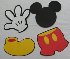 Mickey Mouse Themed Die Cut Set of 8 by Stitched2Fit on Etsy, $8.00