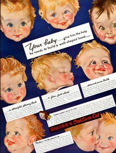 1939 Squibb's Cod Liver Oil Ad Illustrated by Maud Tousey Fangel J337 | eBay