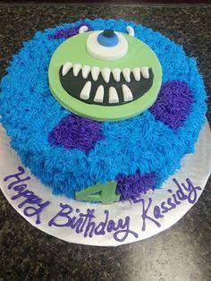 Monster Inc Cake. Monster Inc Birthday, Monster Inc Party, 1st Birthday Cakes, Boy Birthday Parties, Birthday Ideas, Monsters Inc, Cupcakes, Cupcake Cakes, Sully Cake