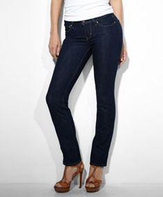 Modern Rise Bold Curve Straight Jeans - Extra Shade - Levi's - levi.com 33 X 32