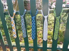 Little Man Ties  velcro neck strap pre tied with by RugratDesign, $12.00