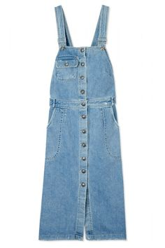 The new way to wear your favorite denim comes in the form of a playful jean jumper. Sea dress, $395, shopBAZAAR.com.