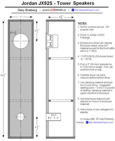 Enclosure Plan - Jordan JX92S Tower Speaker