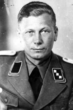 SS-Untersturmfuehrer Otto Berger, an SD officer who served in Bydgoszcz. The face of evil who murdered innocent people in the 1000's