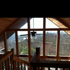 WINDOWS- from our rental cabin in Tennessee.