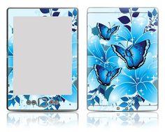 Amazon Kindle 4 Vinyl Skin Decal Sticker - Butterfly Corner $9.99