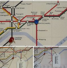 How To Make DIY Map Table Plans {London Underground Maps / World Maps} available from www.theweddingofmydreams.co.uk #wedding #theweddingofmydreams