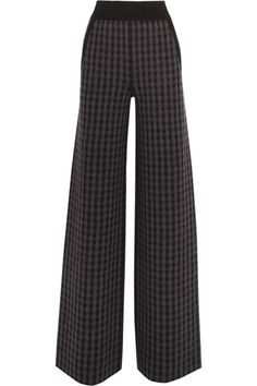 Bottega Veneta | Houndstooth wool-blend wide-leg pants | NET-A-PORTER.COM